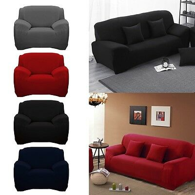 1-5 Seater EASY Stretch Couch Sofa Lounge Covers Recliner Dining Chair Cover
