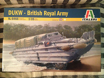 Italeri, DUK-W Royal British Army. 1/35 Scale. New in box and sealed.