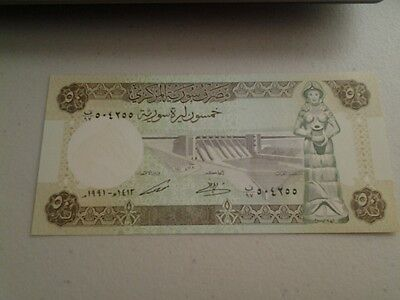 50 Syrian Pound Banknote,1991  Mint Condition