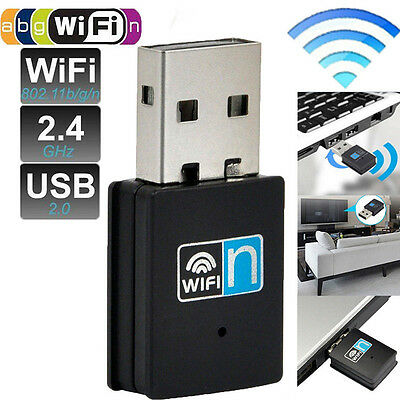 300Mbps USB Wireless Adapter WiFi Lan Network Receiver Card For Desktop PC NEW