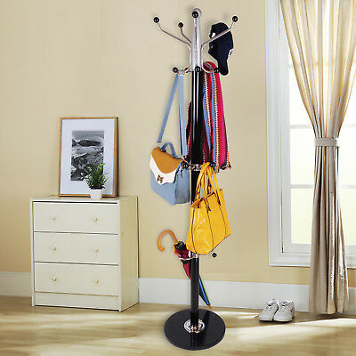 Rotating Clothes Hat Coat Umbrella Stand Rack Garment Hanger Iron Metal 15 Hook