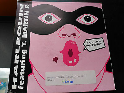 7'' Promo Harlequin Feat. T. Martin P. - Call Me Wolfgang - Max Spain 1992 Vg+