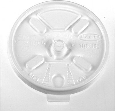 Dart Lift N' Lock White Plastic Hot Cup Lids For 6-10 Oz. Cups, 1000 Count
