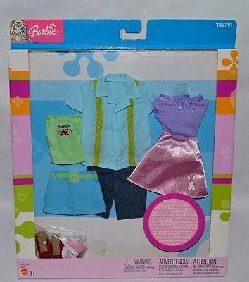 Nib-2003-Ken And Barbie Trend Bowling Fashions- 2 For Barbie, 1 For Ken+ Shoes!!