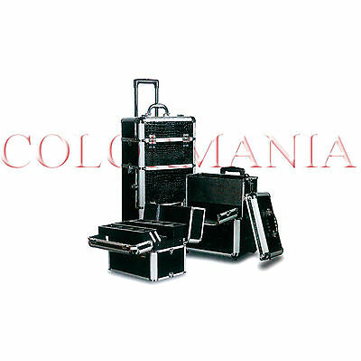 Trolley Estetista Parrucchieri Beauty Case Modulabile Make Up Trucchi Nail Art