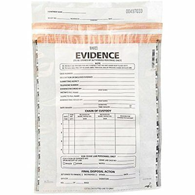 Medium Plastic Evidence Bag, 100pk