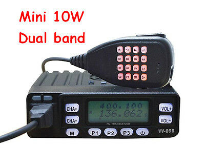 HYS 10W dual band 136-174Mhz and 400-470Mhz ham amateur mini radio transceiver