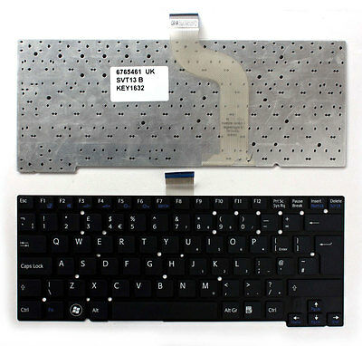 Sony Vaio SVT13118FXS Black Windows 8 UK Layout Replacement Laptop Keyboard