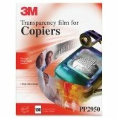 3M PP2950 Copier Transparency Film, 8-1/2-Inch X 11-Inch, 100 Per Box, Black on