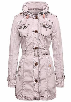 khujo Damen Mantel BOSTON lila Style Trenchcoat Kurzmantel Coat SALE -60%! c5ce2f6aad