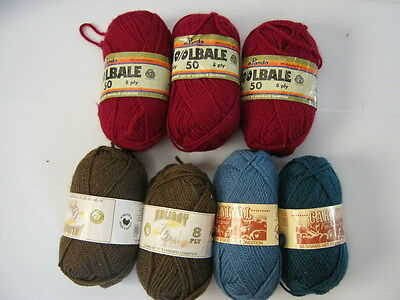 Knitting YARN - 100% Pure Wool - Various COlours & Brands - 350g