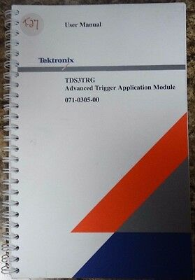Tektronix TDS3TRG Advanced Trigger Application Module User manual