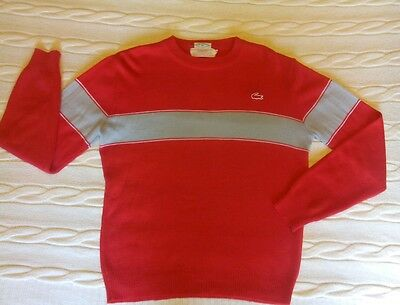 Very Vintage Boys/Kids IZOD Lacoste Sweater Sz 18 Reds