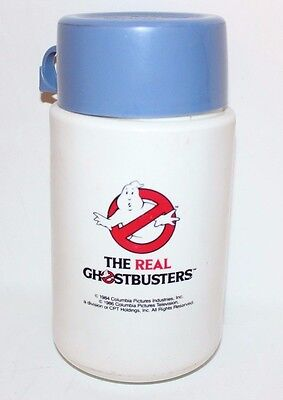 Vintage 1986 The Real Ghostbusters Thermos For Lunchbox Columbia Pictures