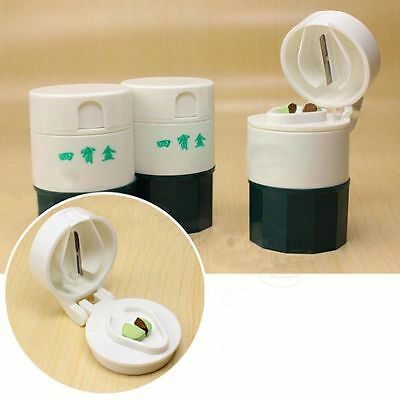 Pulverizer Medicine Tablet Powder Cutter 4 Layer Splitter Box Storage Crusher
