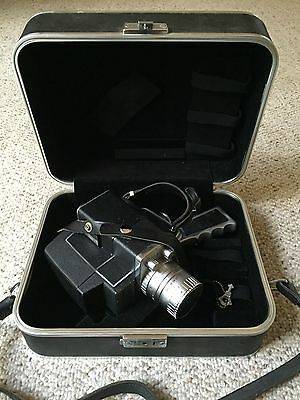 Vintage Bell & Howell ZOOMATIC Director Series 8mm Movie Camera w/ Case 444