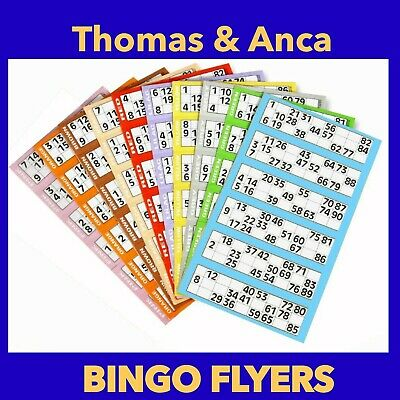 60000 Bingo Tickets 6 to View Flyers Singles Quickies