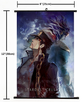 Anime Jojo JoJo's Bizarre Adventure Jotaro Wall Poster Scroll Home Decor 1739