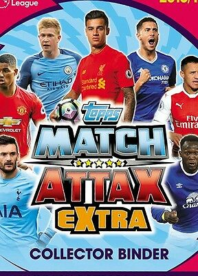 MATCH ATTAX EXTRA 16/17 COMPLETE SET OF CARDS IN A BINDER + 3 LTD pre order