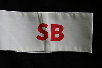 British Home Front Stretcher Bearer Sb Armband Home Guard Related Nice Copy