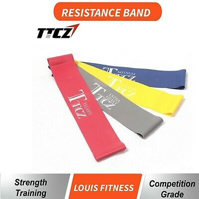 Gym Home Exercise Workout Resistance Band Yoga Fitness Power Heavy Strength Loop