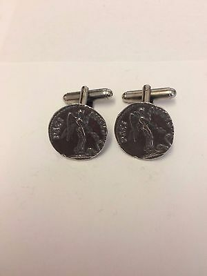 Denarius Cladius Coin WC19A  Pair of Cufflinks Made From English Modern Pewter