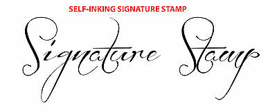 Black (Ideal 100 size) Custom Signature Self Inking Rubber Stamp TRAXX 9013