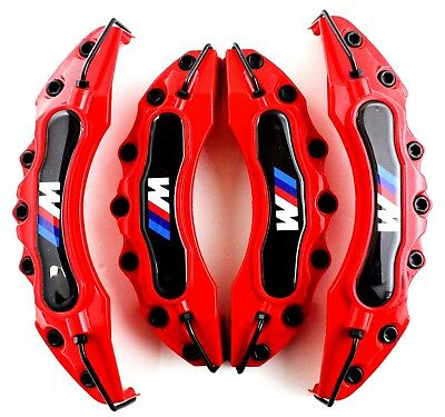 Red BMW M Brake Caliper Cover Universal Disc Racing Front Rear Power E90 E60 325