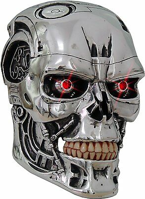 Nemesis Now T-800 Terminator Head Wall Mask With Led Eyes Lights
