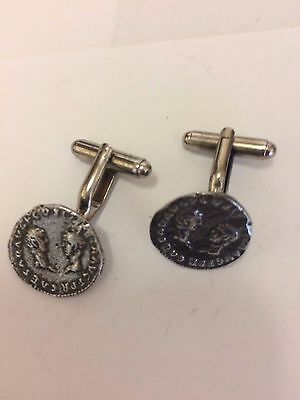 Denarius Vespa Roman Coin WC27A Pair of Cufflinks Made From English  Pewter