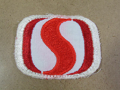 "Vintage Red White Safeway Grocery Food Store Logo Uniform Hat Cap Patch 3"" x 2"""
