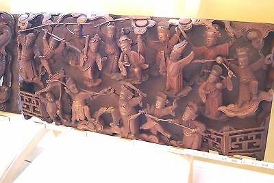 Antique 2 Chinese Carvings DIMENSIONAL Fujian Battle Monkey War Journey 2 West