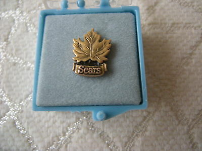 Vintage Sears Maple Leaf 10K EMB cTo Tie Tac Lapel Pin