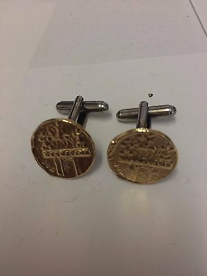 Aureus Of Cladius Coin WC31A Gold Pair of Cufflinks Made From English  Pewter