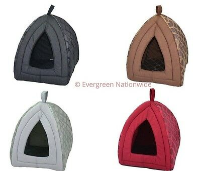 Igloo Pet House Padded Cosy Cave Bed House Dog Cat Kitten Insulated Small Large