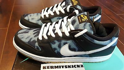 """Nike SB Dunk Low  Black/White/Midnight Navy """"Fast Times"""" size 11.5 DS QS"""
