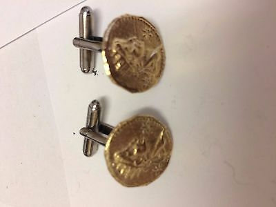 Aureus Of Galigula Coin WC32A Gold Pair of Cufflinks Made From English  Pewter