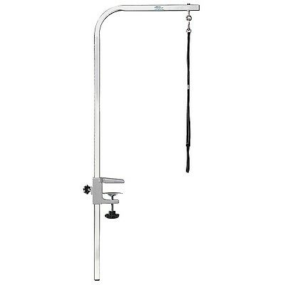 Master Equipment Zinc-Plated Steel Dog Grooming Arm with Clamp 36-Inch Silver