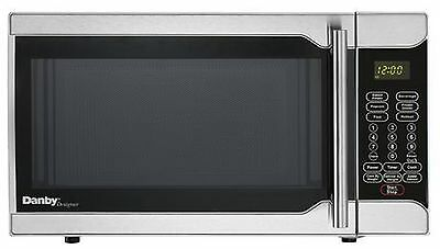 Danby Designer 0.7 Cubic Foot Microwave Stainless Steel 0.7 cu.ft