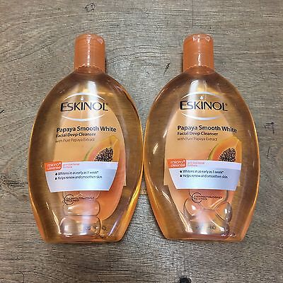 NEW! 2x Eskinol Papaya Smooth White 225ml