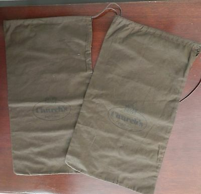 """Pair Of Dust Bags For Church's English Shoes 15.5"""" X 9"""" Free Shipping"""