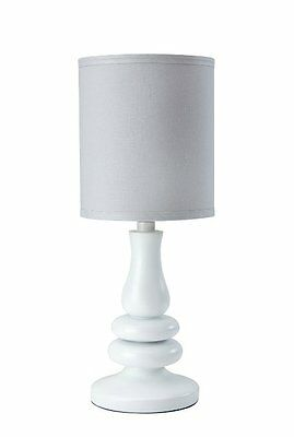 Little Love by NoJo Separates Collection Lamp and Shade, Grey/White