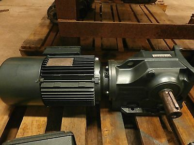 Sew Eurodrive Helical-Bevel Gear Motor W/ Brake K67Dtls4Bm64Hr