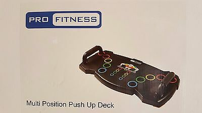 Pro Fitness Multi Position Push Up Deck NEW BOXED  RRP £35