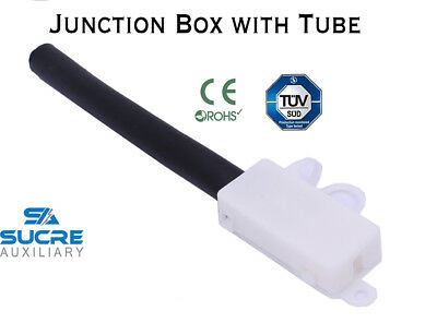10A 250V AC Electrical Cable Wire Connector Junction Box with Black Tube UK