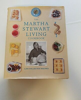THE MARTHA STEWART LIVING COOKBOOK 1200 Collected Recipes Hardcover Book