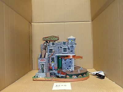 Lemax Spooky Town Box-of-Bones Coffin Factory 45669 As-Is 3226