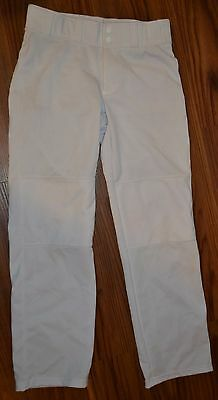 Youth Boys Girls Under Armour Baseball Pants Size Large L Loose YLG White ABSJ