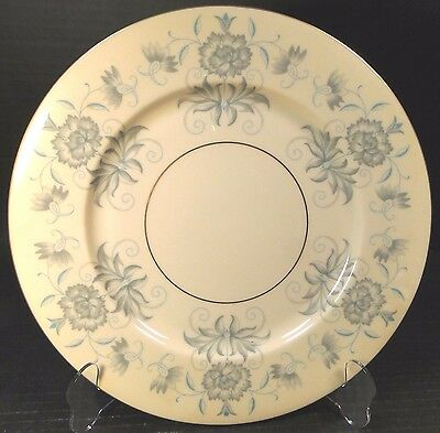 "Castleton China Caprice Dinner Plate 10 3/4"" Blue Gray Floral EXCELLENT!"