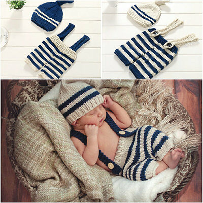 Newborn Baby Girl Boy Crochet Knit Costume Photo Photography Prop Hats Outfits